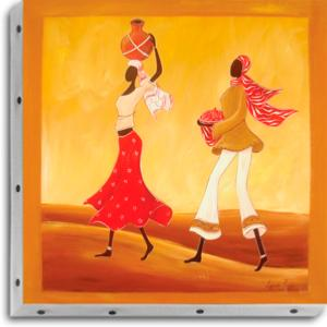Tableau UNO DKO -   Rouge Afro