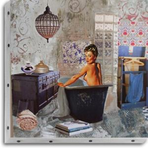 Tableau UNO DKO -   Pin-up bain