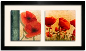 Tableau DUO DKO -   Coquelicots