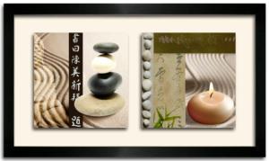 Tableau DUO DKO - Galets et Bougies Zen