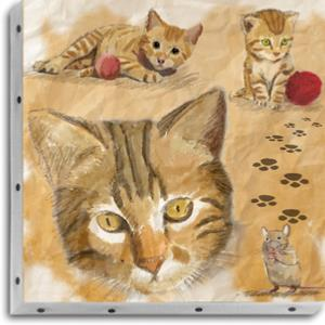 Tableau UNO DKO -   Trois chats