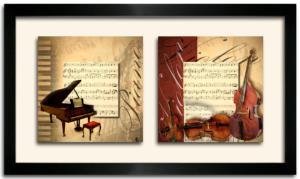 Tableau DUO DKO - Piano et violons