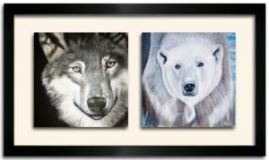 Tableau DUO DKO -   Loup et Ours